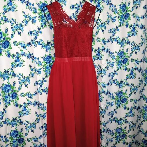 Angela Plus Dresses | Jr Plus Size 1x 2x 3x Dark Red Lacy Prom Dress ...
